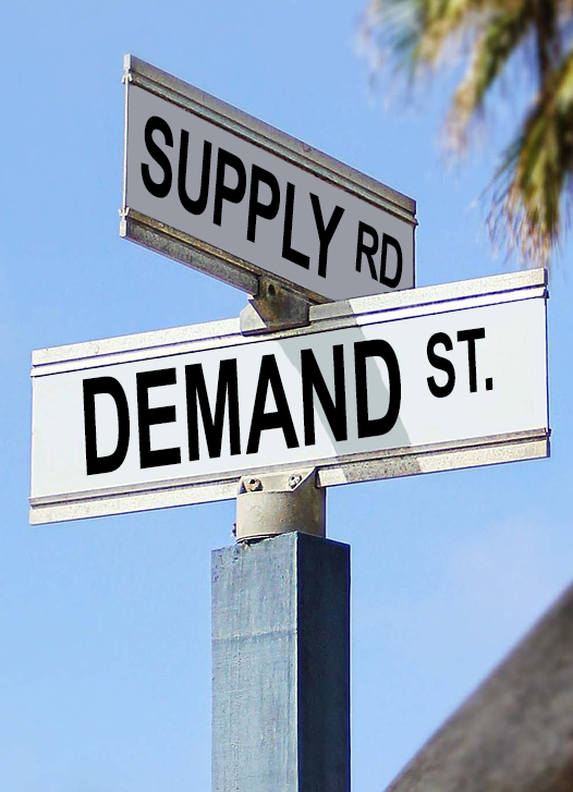 The Law of Supply and Demand and Manufacturing Education graphic
